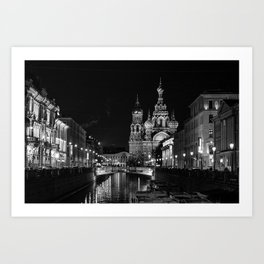 Black and White Saint Petersburg Art Print