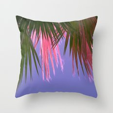 Neon Tropics Throw Pillow