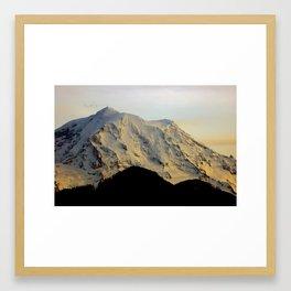 Mount Rainier Twilight Framed Art Print