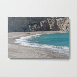 Empty beach Metal Print