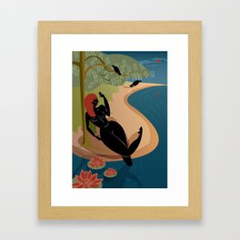 Kuan Yin Beneath a Willow Framed Art Print