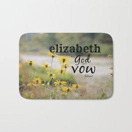 Elizabeth Name art Bath Mat