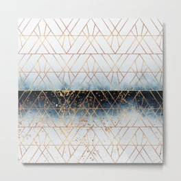 Winter Blue Geo Metal Print