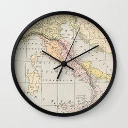 Ancient Italy Map 800 - 222 BC (1901) Wall Clock