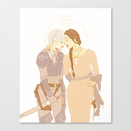The Witch and The Knight Canvas Print