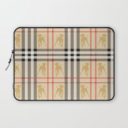 WEIMARANERS AND BEIGE PLAID2 Laptop Sleeve