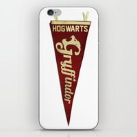 gryffindor iPhone & iPod Skins featuring Gryffindor 1948 Vintage Pennant by Andy Pitts
