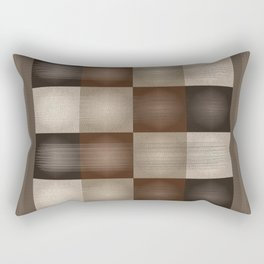 Abstract Earth Tones Rectangular Pillow