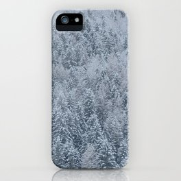 Snowy Pine Forest - Hallstatt, Austria iPhone Case