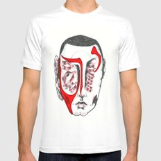 Mask White Mens Fitted Tee MEDIUM