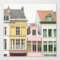 Gent Houses Canvas Print