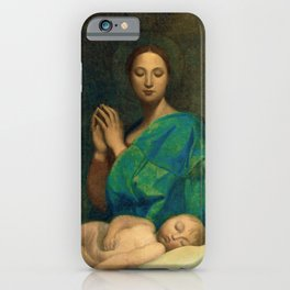 "Jean-Auguste-Dominique Ingres ""The Virgin with the sleeping infant Jesus"" iPhone Case"