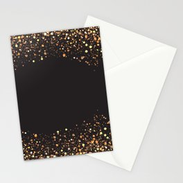 Black and gold #society6 Stationery Cards