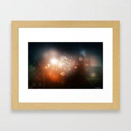 Squaristic ligths Framed Art Print