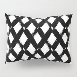 black and white criss cross pattern modern pillow sham