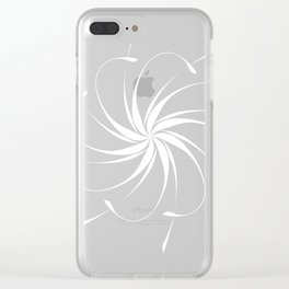 White tropical flower Clear iPhone Case