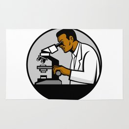 African American Research Scientist Mascot Rug