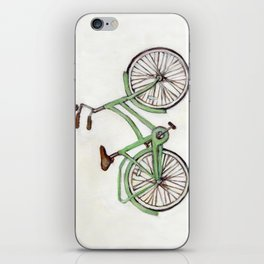 Bicycle / Green Cruiser iPhone Skin