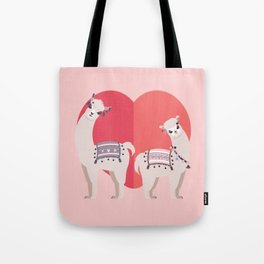 Llama and Alpaca with love Tote Bag