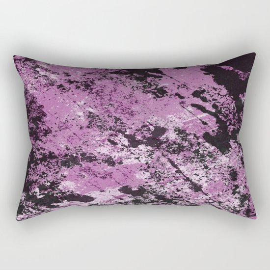 Abstract Texture Deux - Purple, White and Black Rectangular Pillow