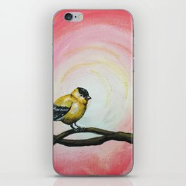 Minimalist Goldfinch iPhone Skin