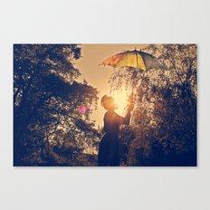 sunshine umbrella Canvas Print