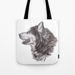 Gotta draw the Husky Doggie Tote Bag