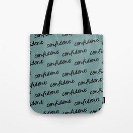 GOOD VIBES - CONFIDENT (blue) Tote Bag