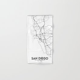 Minimal City Maps - Map Of San Diego, California, United States Hand & Bath Towel