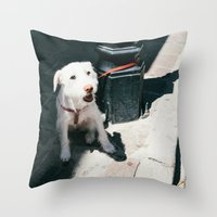 ben giles Throw Pillows featuring Ben by Olivia Heights