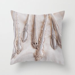Old Silver Throw Pillow