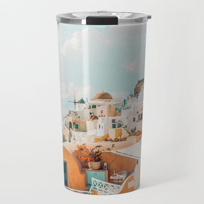 Santorini #travel #greece Travel Mug