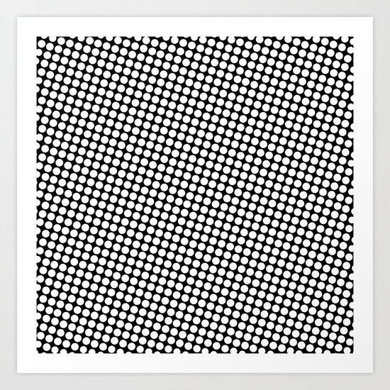 WHITE DOT Art Print