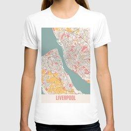 Liverpool - United Kingdom Chalk City Map T-shirt