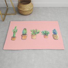 evolution cactus to pineapple pink version Rug