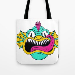 Monster Dragon Face Tote Bag