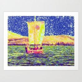 Sail Away Abstract Daydream Art Print