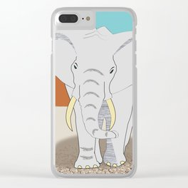 Africa elephant animals animal wild Clear iPhone Case