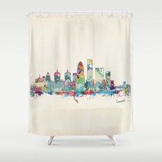 Louisville Kentucky skyline Shower Curtain