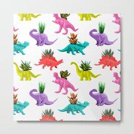 Dinosaur Planters Metal Print