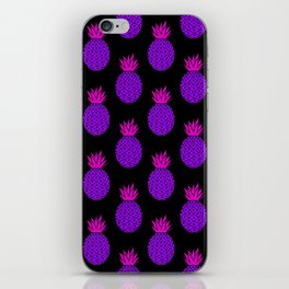 Purple Disco Pineapples iPhone Skin