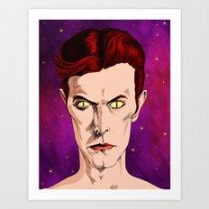 The Man Who Fell Art Print