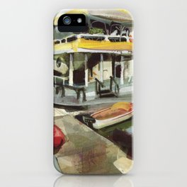 Capt. Carl W. Bolender sits abroad the S.S. Hurricane Gloria - Long Wharf, Newport iPhone Case