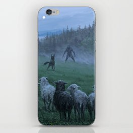 Shepherd and his faithful dog iPhone Skin