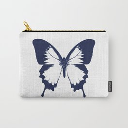 Navy and White Butterfly Carry-All Pouch