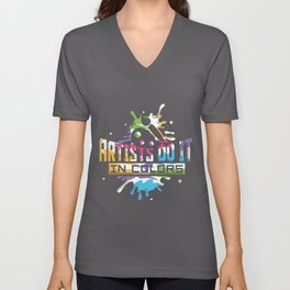Funny Artist Do It In Color Abstract Art Pun Unisex V-Neck
