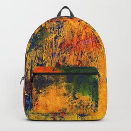 Imaginaere Landschaft II abstrakte Malerei Backpack