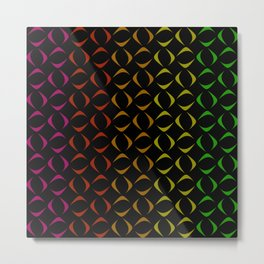 Pattern of multi-colored rhombuses and triangles. Metal Print