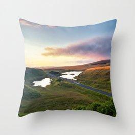 Vanishing Lakes,Ireland,Northern Ireland,Ballycastle Throw Pillow