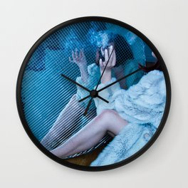 Smoked in Mirrors Wall Clock